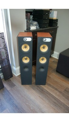 B&W 684 speakers in cherry
